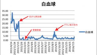 【白血病 血液データ】白血球の推移・グラフ